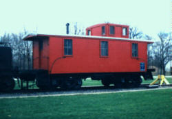 PM Caboose #A557 at Shelby Township, MI - Click here for a photo of this caboose in service.