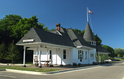 The ex-PM depot at Charlevoix, MI