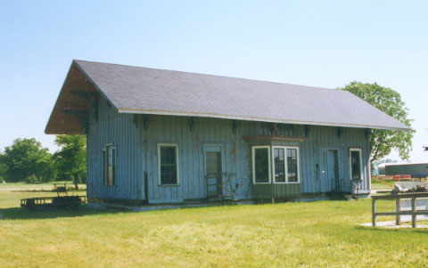 Ex-PM wooden depot from Howell, MI, now at Fowlerville fairgrounds