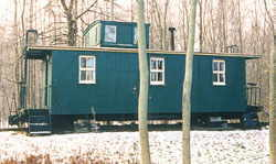 PM caboose #A566, south of Holland, MI