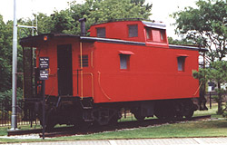 PM caboose #A967 on display at Holland, MI