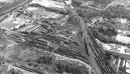 Wyoming Yard and Shops, 1956